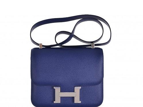 Hermes Constance 24 Blue Saphire Epsom PHW
