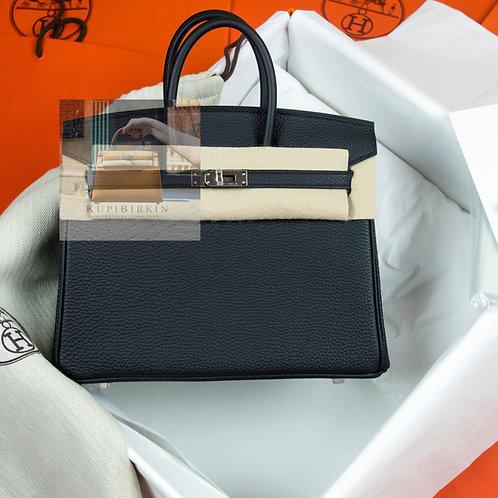 Hermes Birkin 25 Black Togo Palladium Hardware