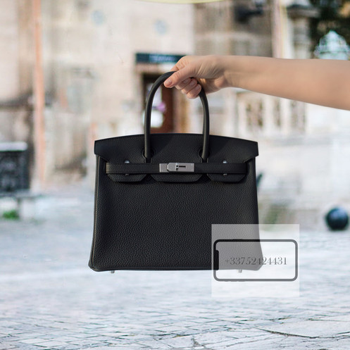 316e71f11d0 Hermes Birkin 30 Black Togo Palladium Hardware bag is a real masterpiece of  the fashion industry. It is made of high quality leather and trimmed with  silver ...