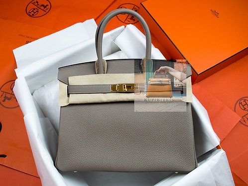 Hermes Birkin 30 Gris Asphalte Togo Gold Hardware