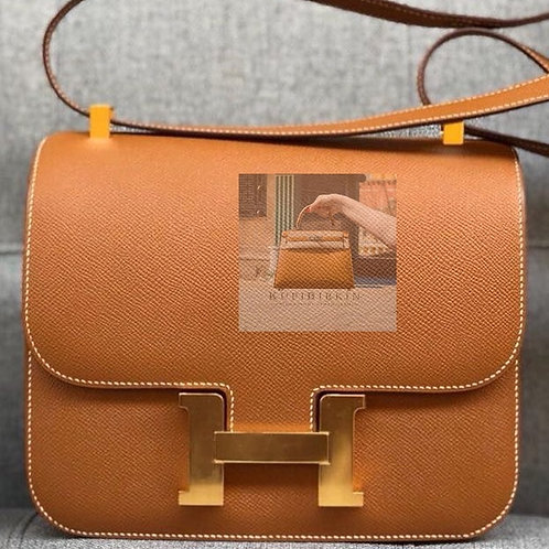 Hermes Constance 24 Gold Epsom Gold Hardware