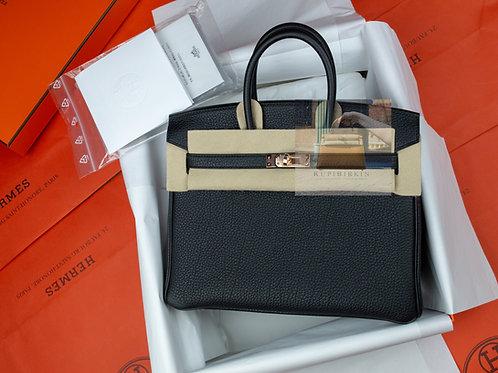 Hermes Birkin 25 Black Togo Rose Gold Hardware