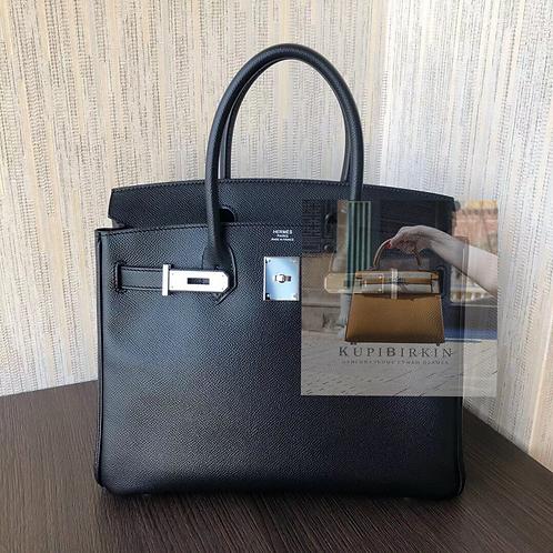 Hermes Birkin 30 Black Epsom Palladium Hardware