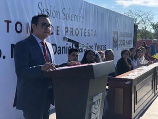 Rinde protesta Marcos Daniel Barajas Yescas como Rector de la Universidad José Martí