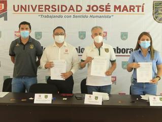 COLIMA FC Y UNIVERSIDAD JOSÉ MARTÍ FIRMAN CONVENIO DE INTERCAMBIO DEPORTIVO Y EDUCATIVO