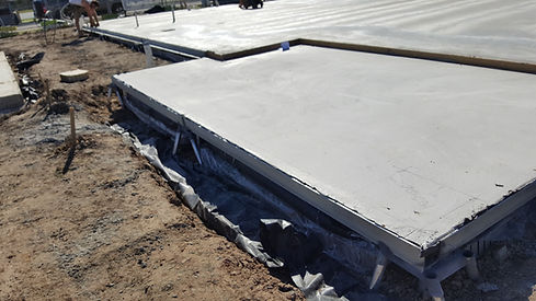 Surefoot engineered as part of the concrete slab