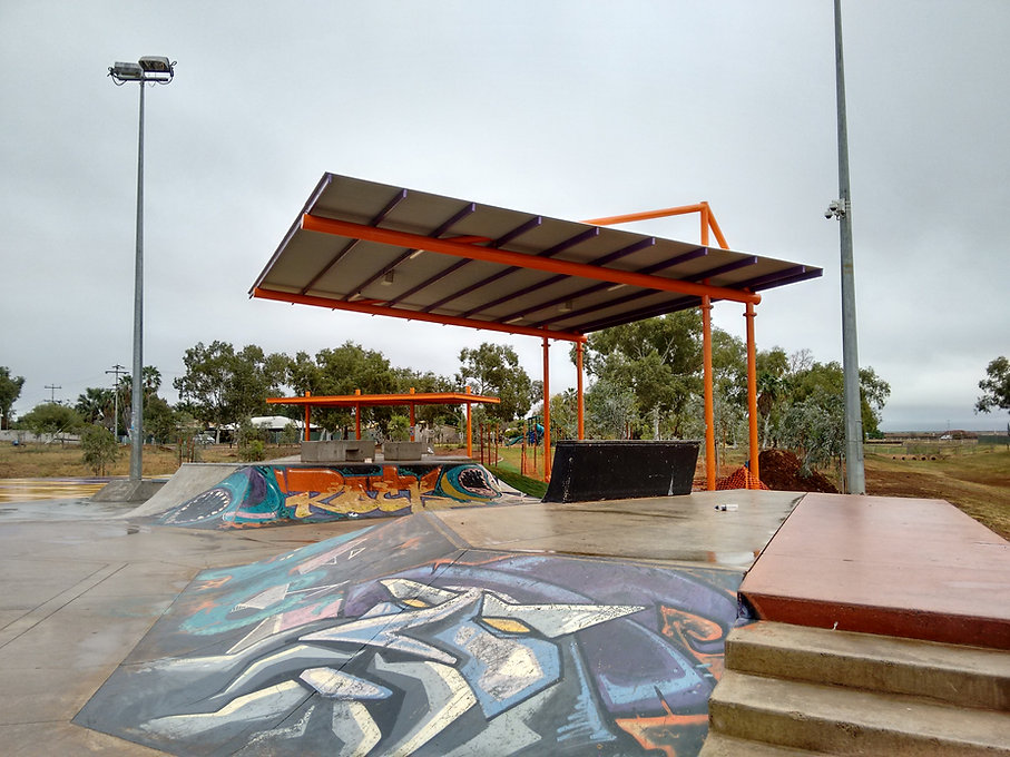 Cantilevered roof structure on Surefoot Footings