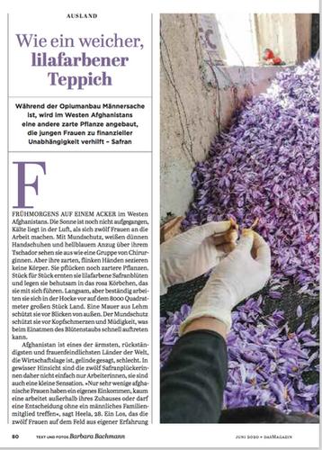 Wie ein weicher, lilafarbener Teppich