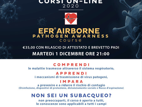 CORSO ON-LINE EFR AIRBORNE PATHOGEN AWARENESS