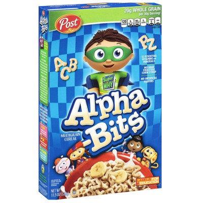 Alpha Bits Cereals