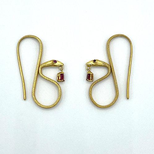 18k The Snake Charmer Earrings