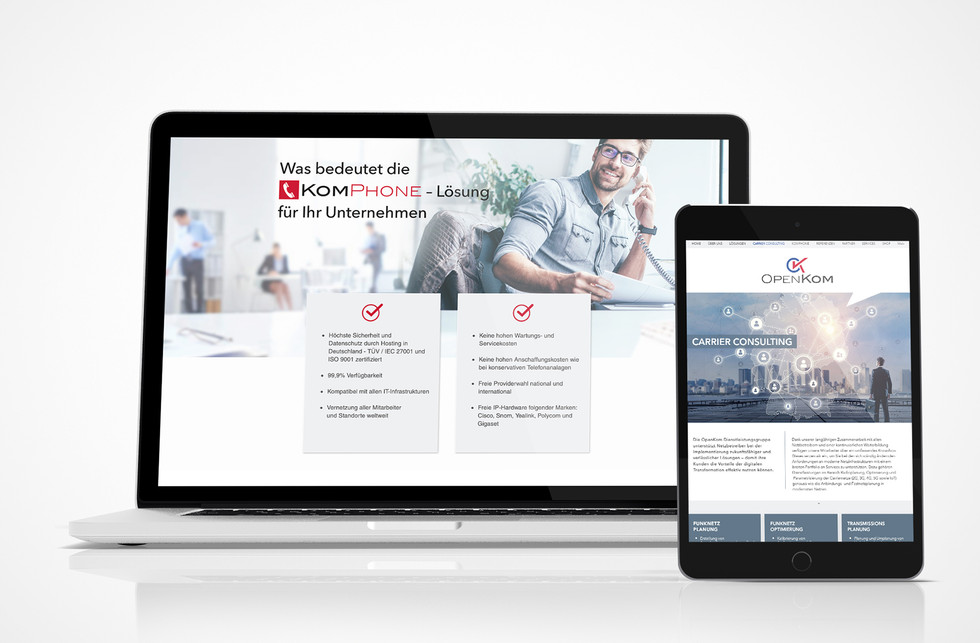 OpenKom Homepage-Design
