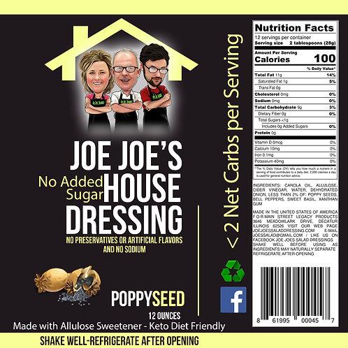 """No Sugar Added"" Joe Joe's House Poppy Seed"
