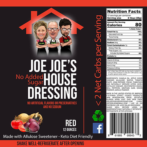 """No Sugar Added"" Joe Joe's House Red"