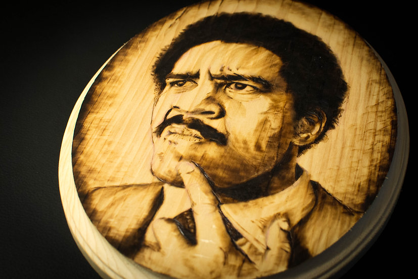 "8""x10"" Woodburnt Panel Portrait ""Richard Pryor"""
