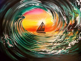 Arsenio-KS-Ride the Wave-Painting - Kris