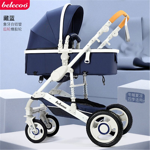 Belecoo® - 2 in 1 High Landscape Luxury Baby Pram