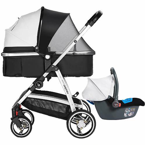 Newber® - PU Leather/Fabric Luxury Baby Stroller
