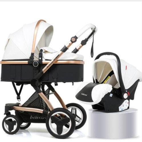 Belecoo® - 2 in 1  Bassinet & Car Seat Stroller
