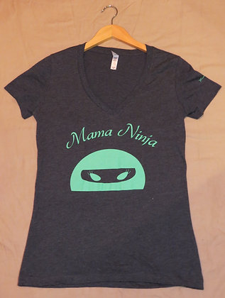 Mama Ninja (Gray and Turquoise)