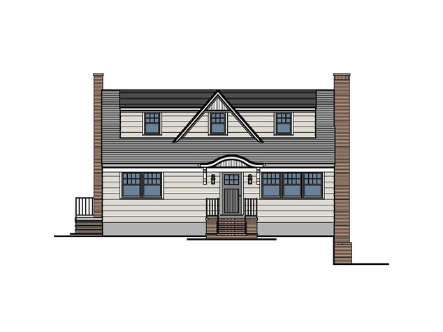 Cottage Front Facade Transformation