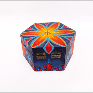Flower of Life hex stash box