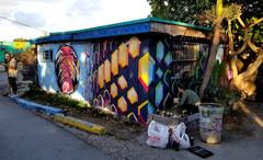 Temporary collaborative wall mural in Miami, FL (2019)