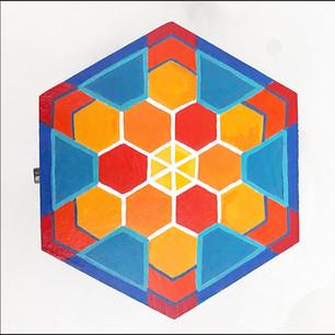 Custom painted hex stash box