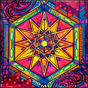 Neon Star Mandala