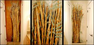 Bamboo bathroom mural series