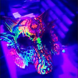 Blacklight mask for Loveburn 2020