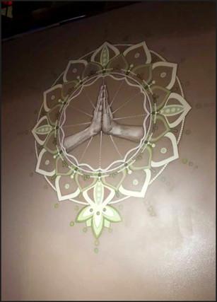 """Namaste Mudra"" mural"