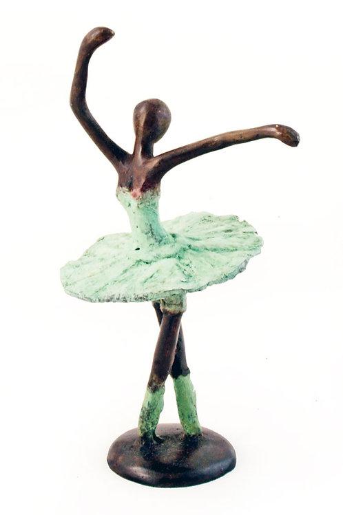 Burkina Faso Bronze Ballerina Sculpture