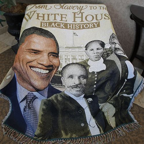 From Slavery to White House Throw