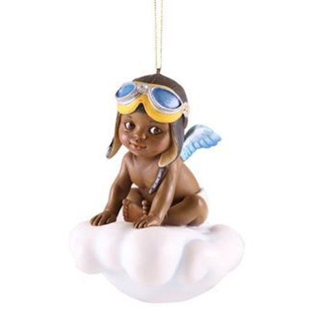 Catching A Blessing Boy Pilot on Cloud Ornament