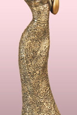 Bronze Candle Holder Woman
