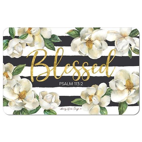 Blessed Magnolia  Floor Mat