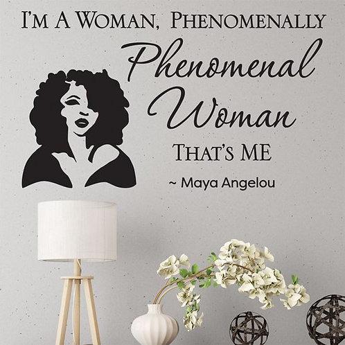 Phenomenal Woman Wall Art Decal