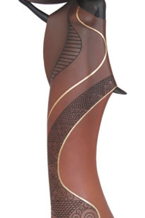 Candle-Holder - Tribal Woman in Brown - 25782