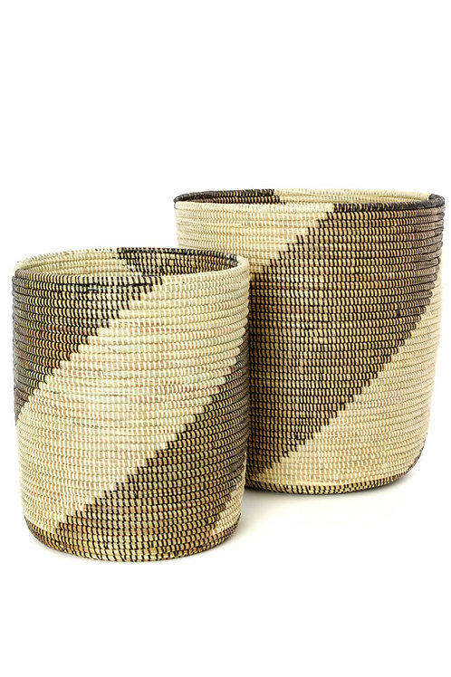 Set/2 Nesting Swirl Baskets