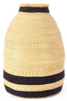 Blue Striped Elephant Grass Bell Basket