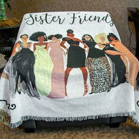 Sister Friends Tapestry Throw