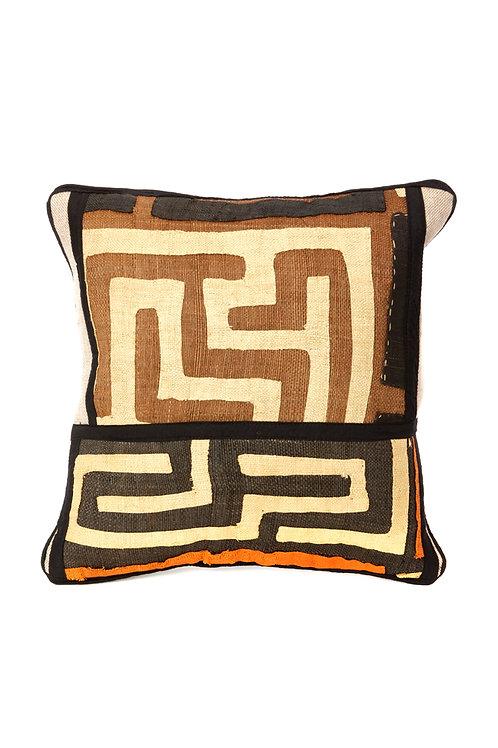 "16"" Criss-Cross Congo Raffia Decorative Pillow"