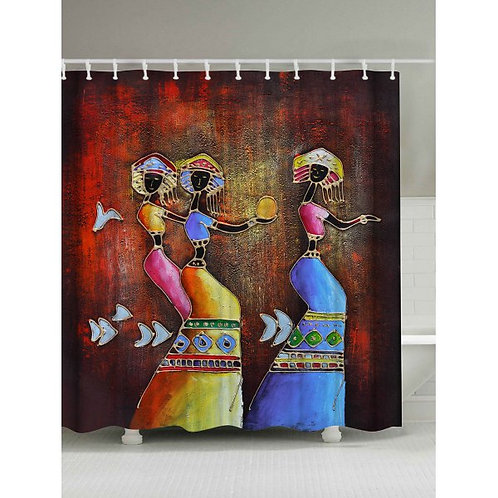 Ethnic Mural Art Printed