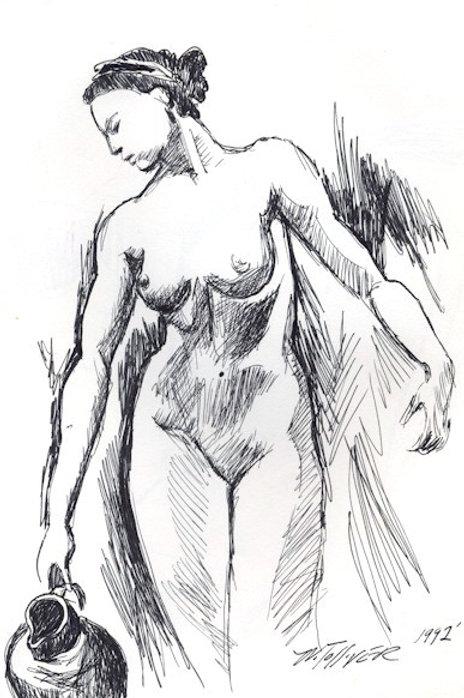 Bathing Nude