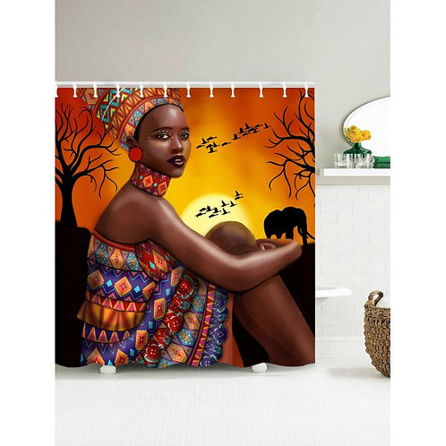 African Tribal Girl Print