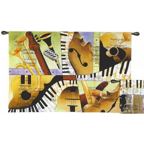 Jazz Medley I (Music) Tapestry Wall Art