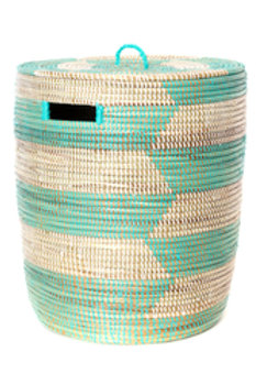 Aqua & White Sahara Basket