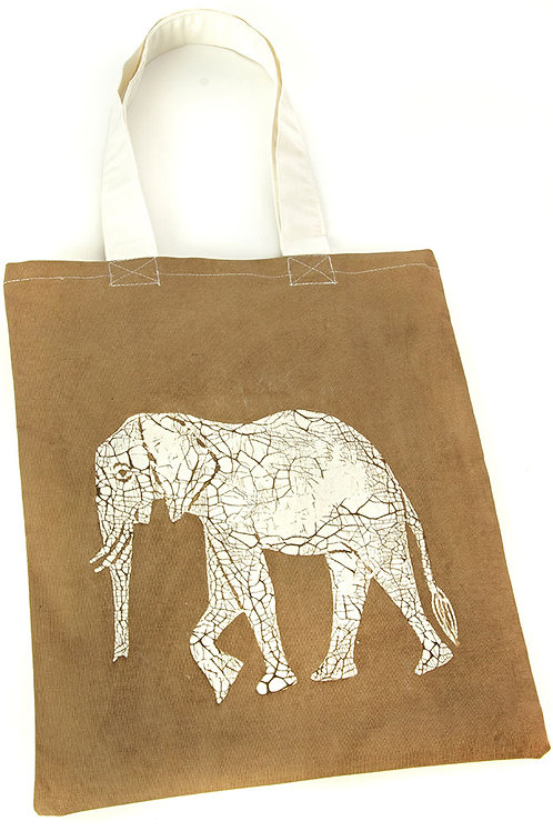 Dry Season Elephant Tote Bag