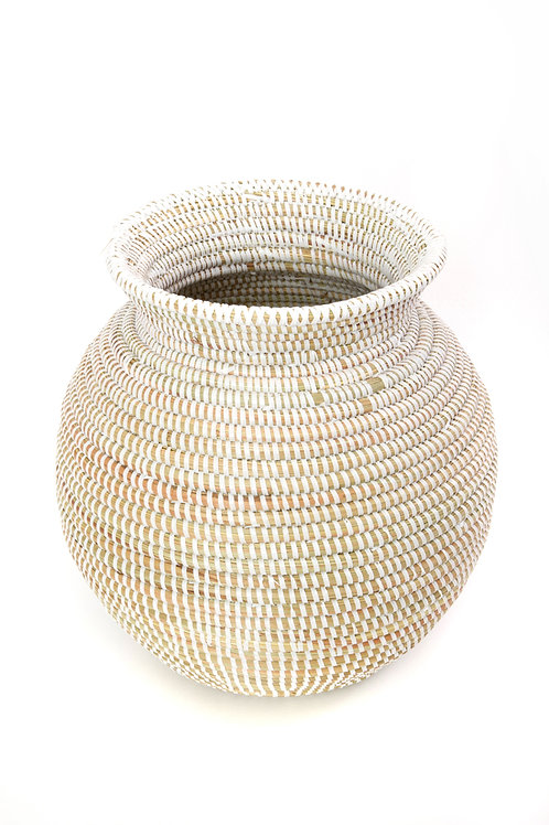 White Senegalese Kitchen Basket